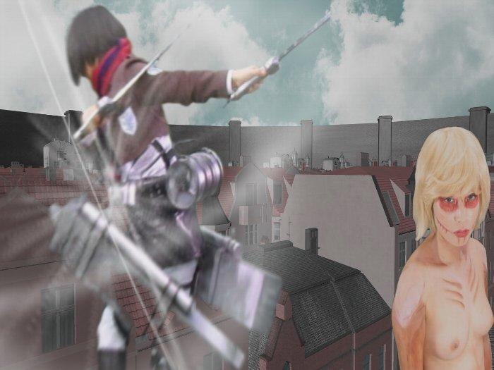 進撃の巨人の実写AV 016